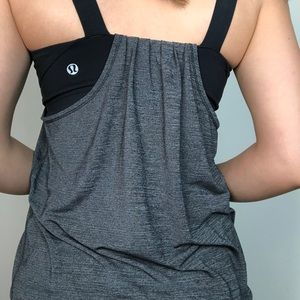 Built-In Athletic Tank (Grey, Black)